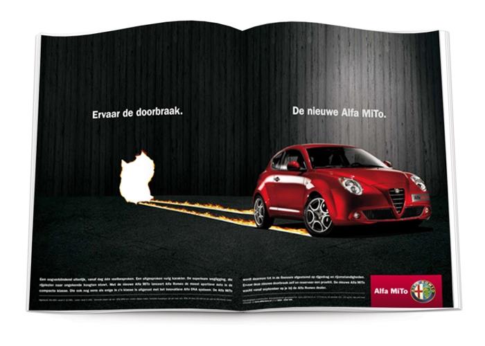 Alfa Romeo Mito spread advertentie GTA