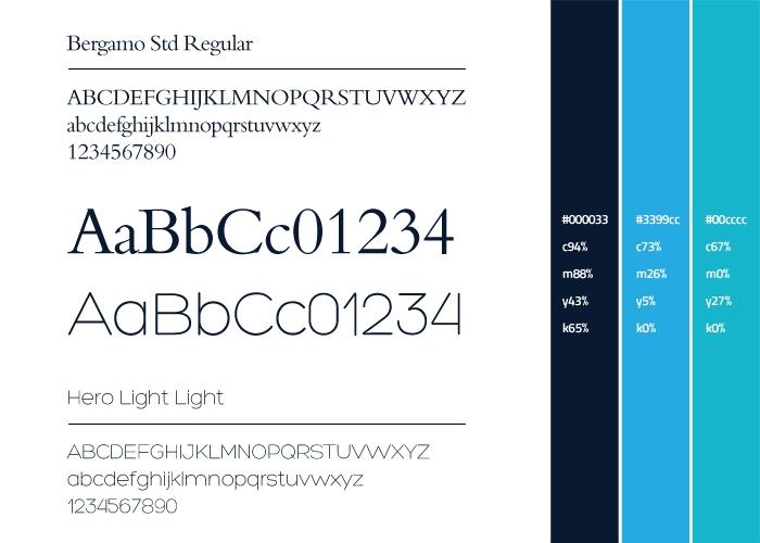 Dadaszeevis lettertype & kleuren