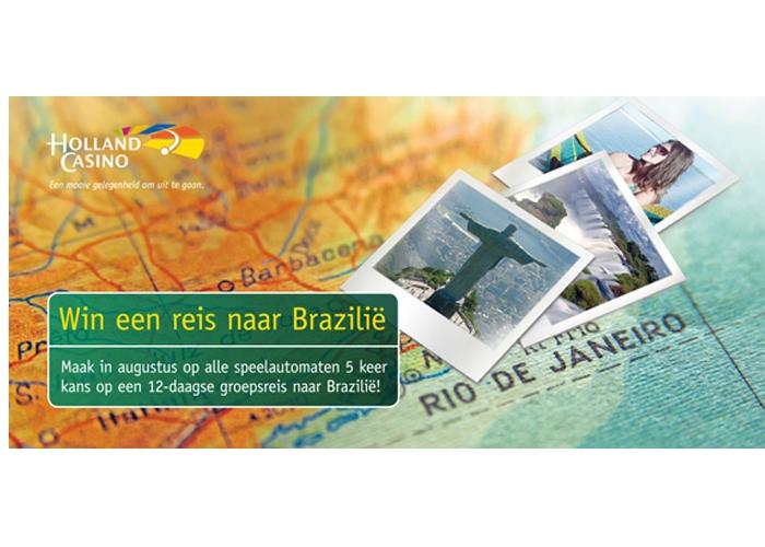 Holland Casino Nijmegen campagnebeeld Win een reis naar Brazilië
