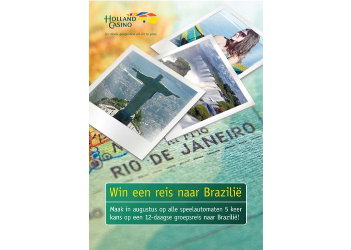 Holland Casino Nijmegen Poster Win een reis naar Brazilië