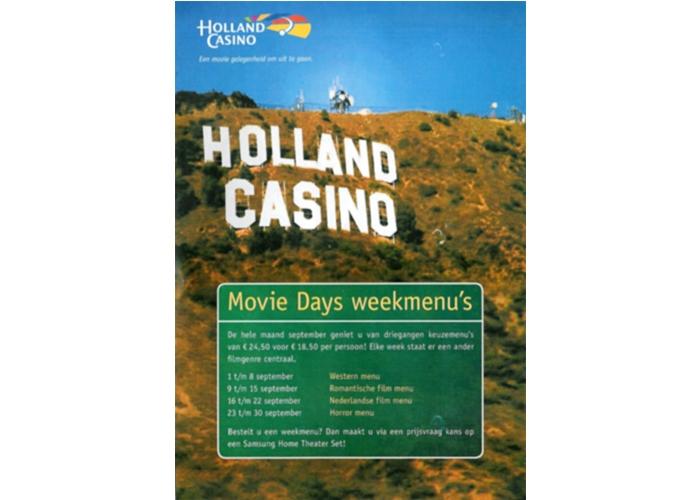 Holland Casino Nijmegen Movie Days menukaart