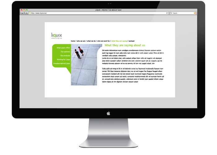 Liquix website