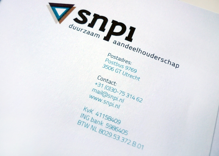 SNPI briefpapier