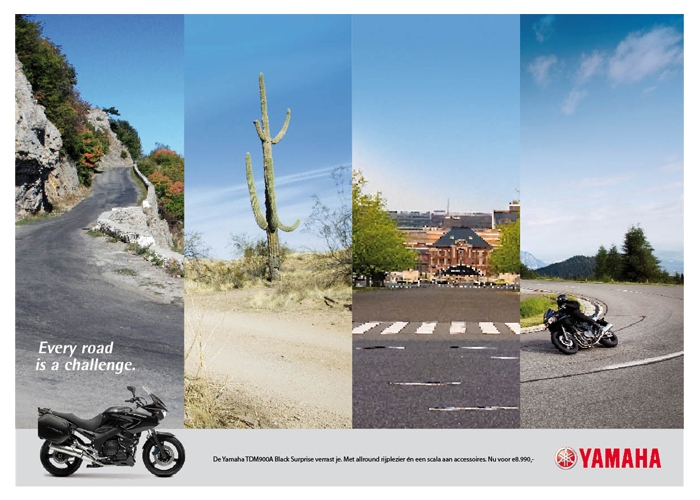 Yamaha spread advertentie